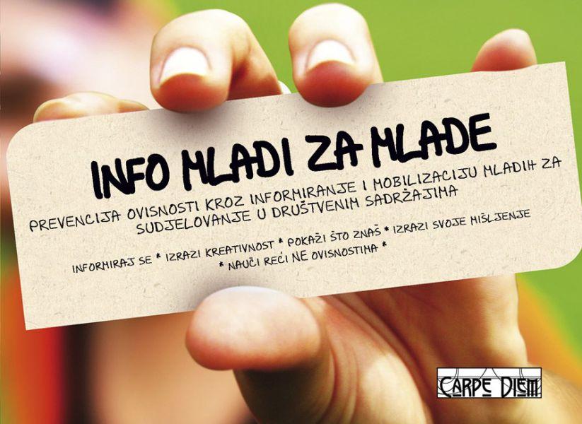 Info mladi za mlade Plakat
